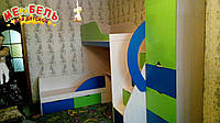 Детская двухъярусная кровать с рабочей зоной и лестницей-комодом АЛ14-3 Merabel