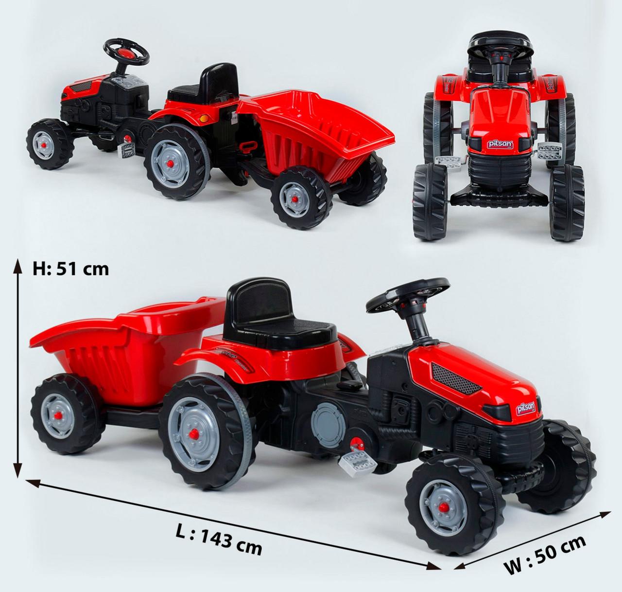 Трактор педальный с прицепом Pilsan