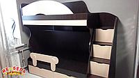 Детская двухъярусная кровать с лестницей-комодом АЛ5-3 Merabel