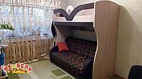 Детская двухъярусная кровать с лестницей-комодом АЛ4 Merabel