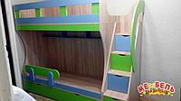 Детская двухъярусная кровать с лестницей-комодом АЛ5-2 Merabel