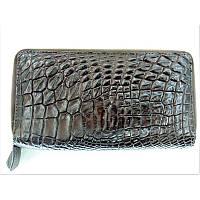 Универсальный клатч из кожи крокодила Thai Skin (ZAM 15 B Brown), фото 1