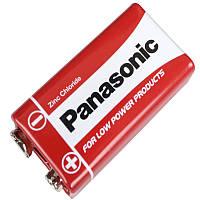 Сольова Батарейка крона (6F22) Panasonic Red Zinc 9V