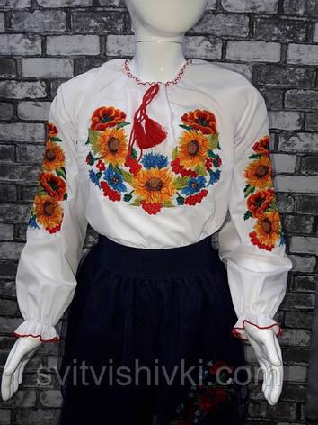 Вышитая блуза для девочки, фото 2
