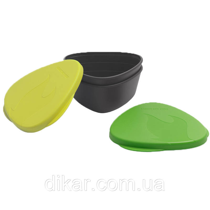 Набор посуды LIGHT MY FIRE SnapBoх (4 предмета), лайм/зеленый