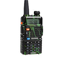 Рация Baofeng UV-5R (5W, VHF/UHF, 136-174 MHz/400-470 MHz, до 5 км, 128 каналов, АКБ), камуфляжная