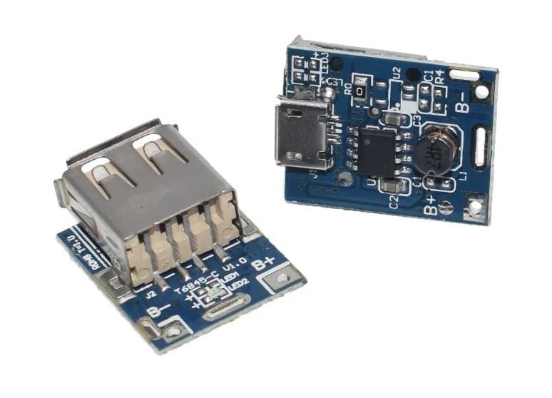 Повышающий модуль преобразователь USB DC-DC 3.7-5В защита LiPO