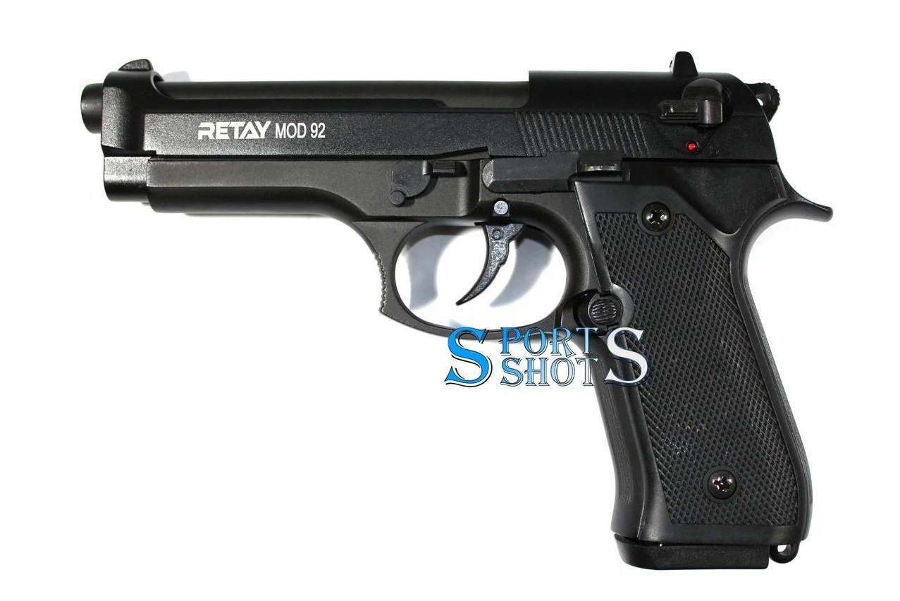Стартовый пистолет Retay Mod. 92 black (Beretta 92)
