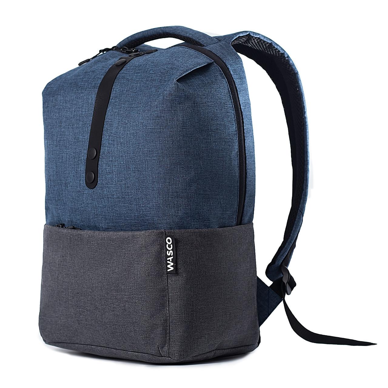 Городской рюкзак для ноутбука Wasco OM1 Синий-Графит