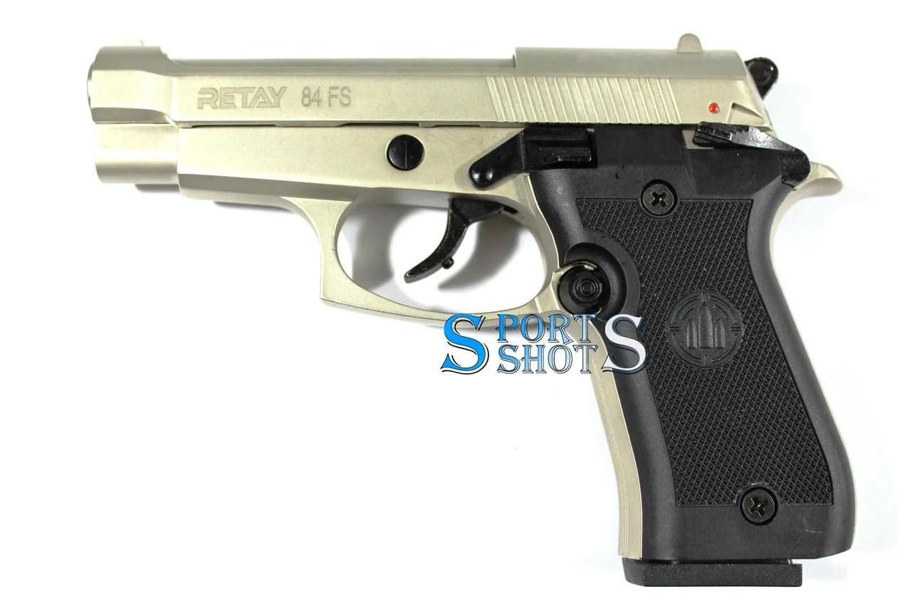 Стартовый пистолет Retay 84FS satin (Beretta FS 84)