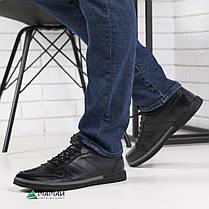 Кожаные кроссовки мужские на резинке 40,41,42р, фото 3