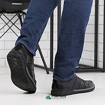 Кожаные кроссовки мужские на резинке 40,41,42р, фото 2