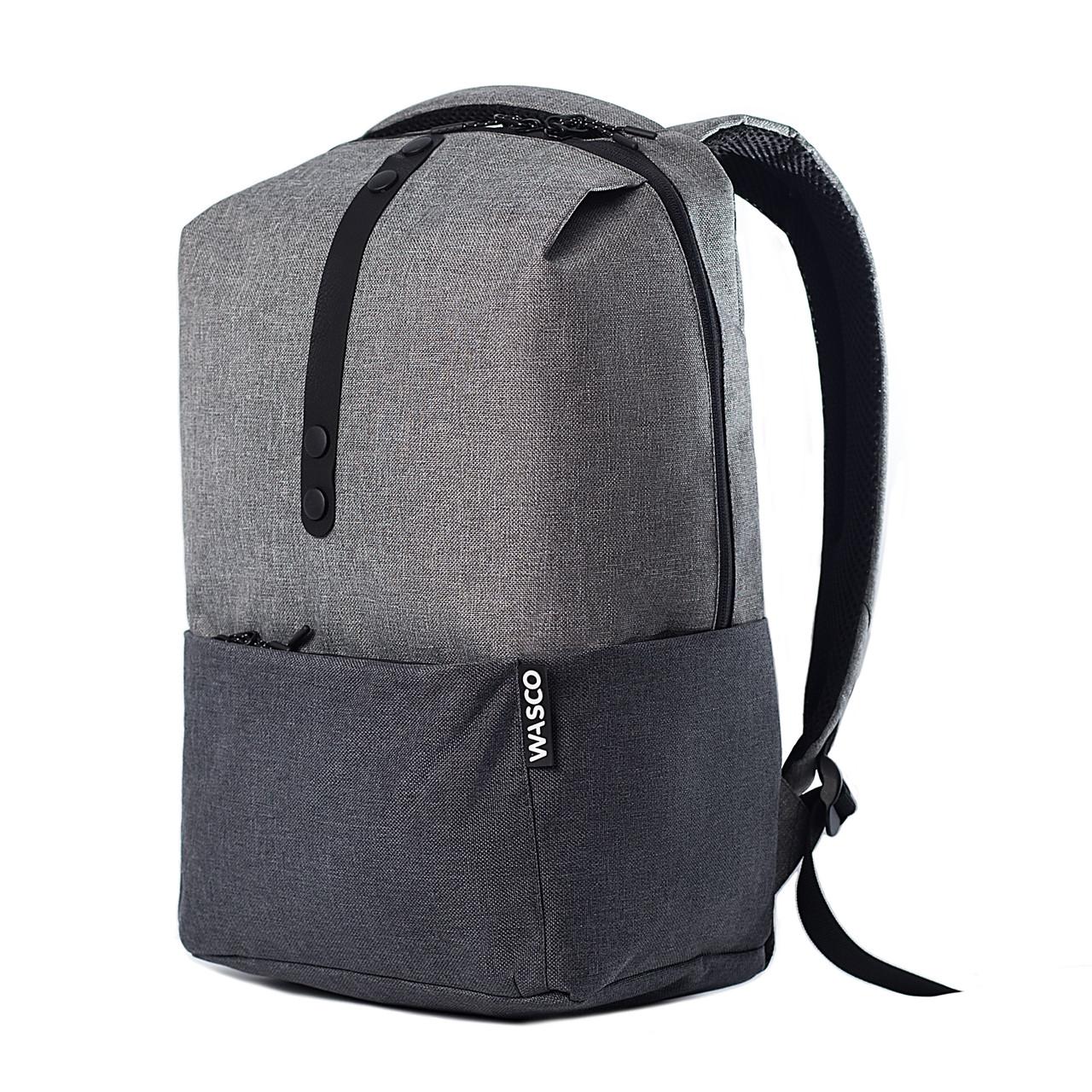 Городской рюкзак для ноутбука Wasco OM1 Серый-Графит
