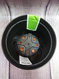 """Вазон """"Ибис"""" с двойным дном 17.9*14.7 (2.3 л) Оранжевый-черный, фото 3"""