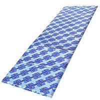 2 в 1 - коврик для пикника + сумка Senat Holiday (1630х520х90мм, молния), синий узор