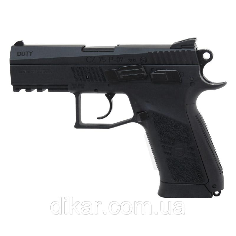 Пистолет пневматический ASG CZ 75 P-07 (4,5mm), черный