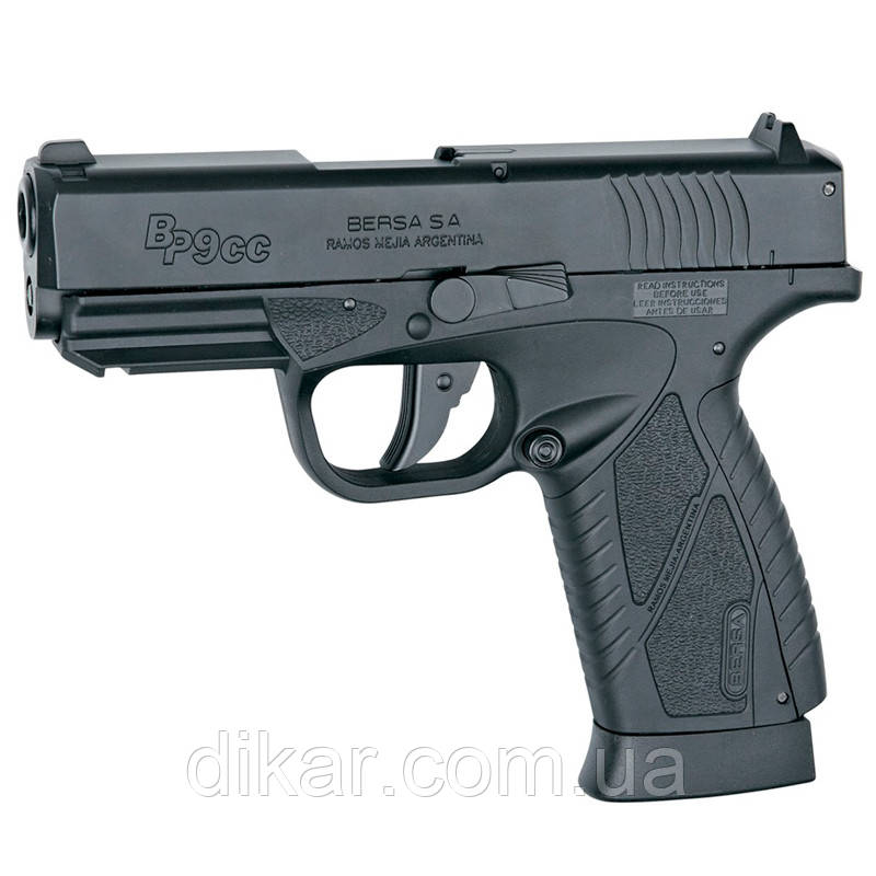 Пистолет пневматический ASG Bersa BP9CC (4,5mm), черный