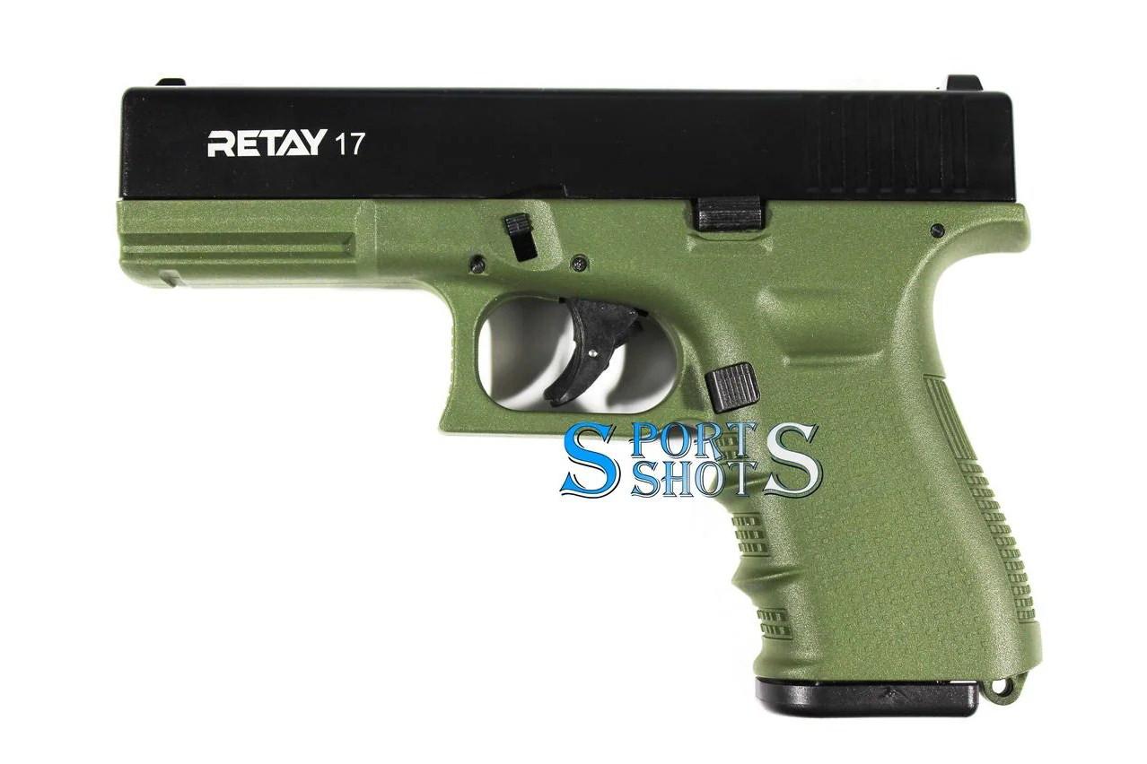 Стартовый пистолет Retay G 17 olive