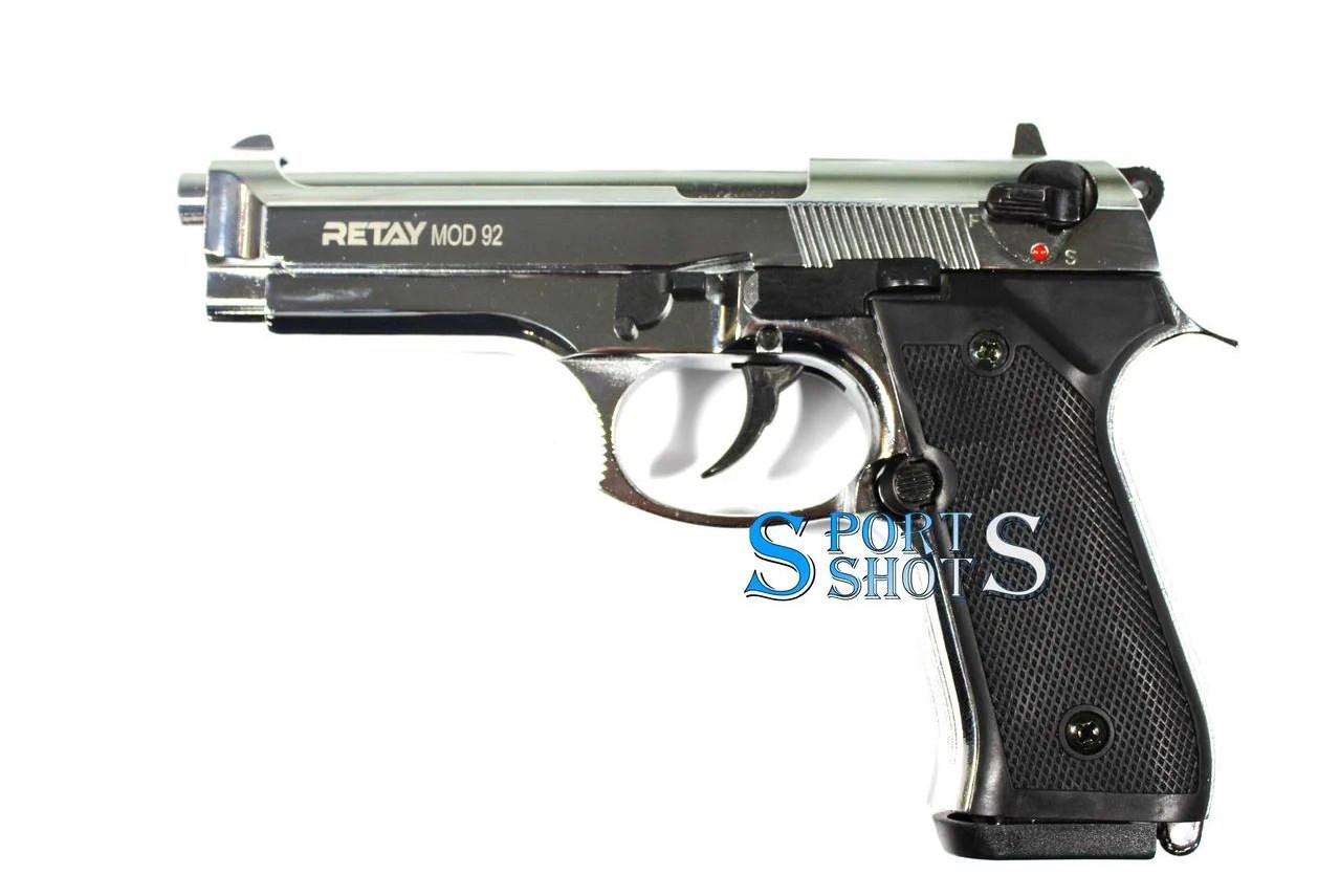 Стартовый пистолет Retay Mod.92 nickel