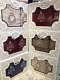 Набор люксовых махровых полотенец  1 банное  1 лицевое  в подарочной упаковке Турция, фото 2