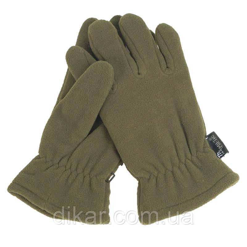 Перчатки флисовые Thinsulate, оливковые