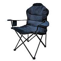 Кресло складное туристическое Восток Рыбак ЛЮКС (820x470мм), синее, чехол