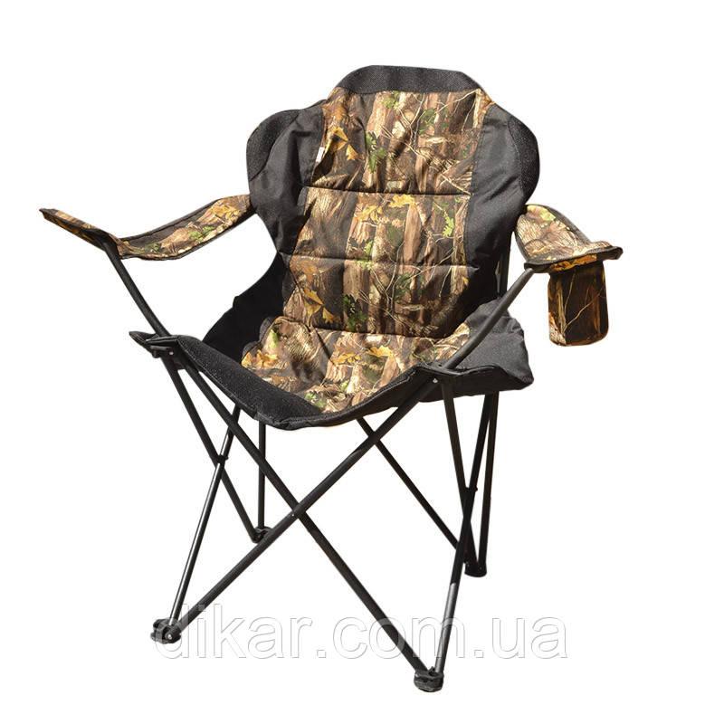 Кресло складное туристическое Восток Рыбак ЛЮКС (820x470мм), лес, чехол