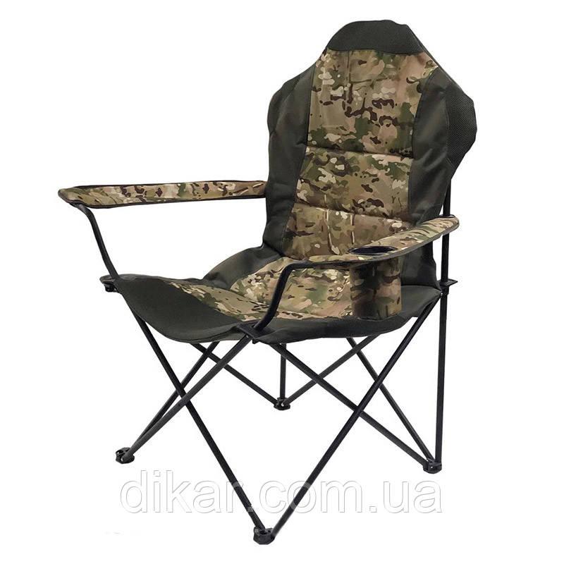 Кресло складное туристическое Восток Рыбак ЛЮКС (820x470мм), камуфляж, чехол