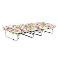 Кровать стальная Vitan Бязь цветы (1985x810x345мм), цветочный узор