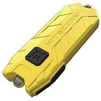 Фонарь наключный Nitecore TUBE v2.0 (1 LED, 55 люмен, 2 режима, USB), желтый