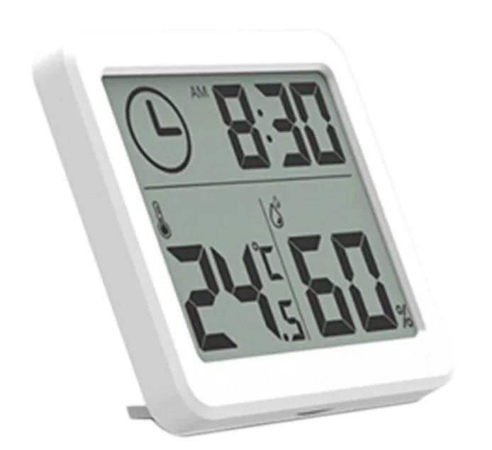Настільний годинник, термометр і гігрометр (вологість) з РК дисплеєм