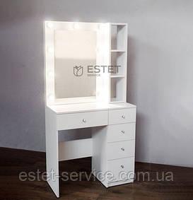 В НАЛИЧИИ! Гримерный стол М620 с подсветкой и полками возле зеркала