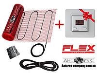 Обогревательный електрический мат, FLEX EHM - 175 / 6м / 3 м2 / 525 Вт комплект с сенсорным Terneo SТ