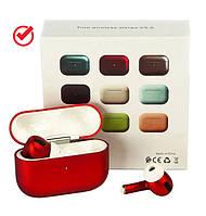 Беспроводные наушники inPods 300 TWS красные, наушники для iphone (дизайн Earpods 3)