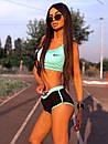 Летний спортивный костюм для фитнеса с шортами и топом 5so1043, фото 5