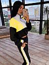 Женский спортивный костюм с кофтой - бомбером с молнией на груди и штанами на резинке 66so1046Q, фото 3