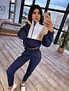 Женский спортивный костюм с кофтой - бомбером с молнией на груди и штанами на резинке 66so1046Q, фото 5