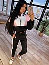 Женский спортивный костюм с кофтой - бомбером с молнией на груди и штанами на резинке 66so1046Q, фото 9