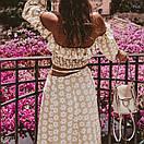 Женский юбочный костюм с длинной юбкой и топом с открытыми плечами 77ks1085, фото 2