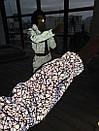 Женский брючный костюм двойка из светоотражающей плащевки с мастеркой на молнии 66ks1088Q, фото 3
