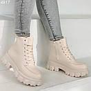 Женские ботинки из экокожи на тракторной подошве BO4917, фото 5
