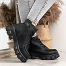 Женские ботинки из экокожи на тракторной подошве BO4917, фото 7