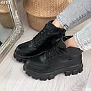 Женские ботинки из экокожи на тракторной подошве BO4917, фото 9