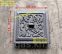 Дверцята сажотруска прочистная чавунна (130х130) печі, мангал, барбекю, грубу
