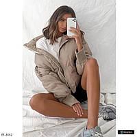 Женская красивая дутая куртка - пуховик, фото 1
