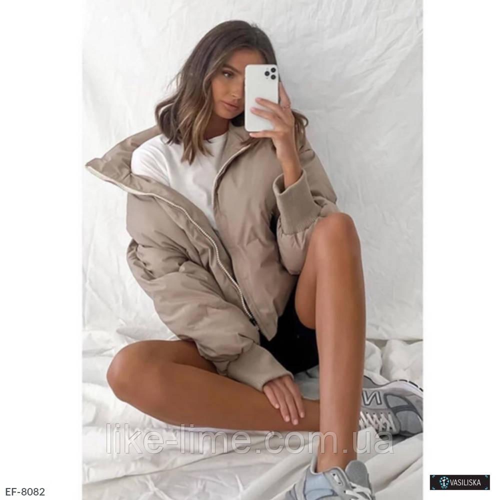 Женская красивая дутая куртка - пуховик