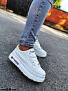 Женские белые кроссовки из экокожи на высокой подошве BO5047, фото 2