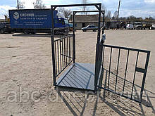 Ваги для зважування тварин 1.5х2 метри 2000 кг
