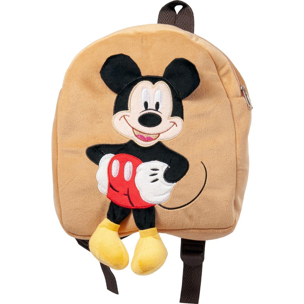 Рюкзак детский для детского садика с Микки Маусом дя малышей бежевый 35см