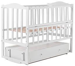 Ліжко Babyroom Зайченя ZL301 маятник, ящик, відкидний пліч-біла